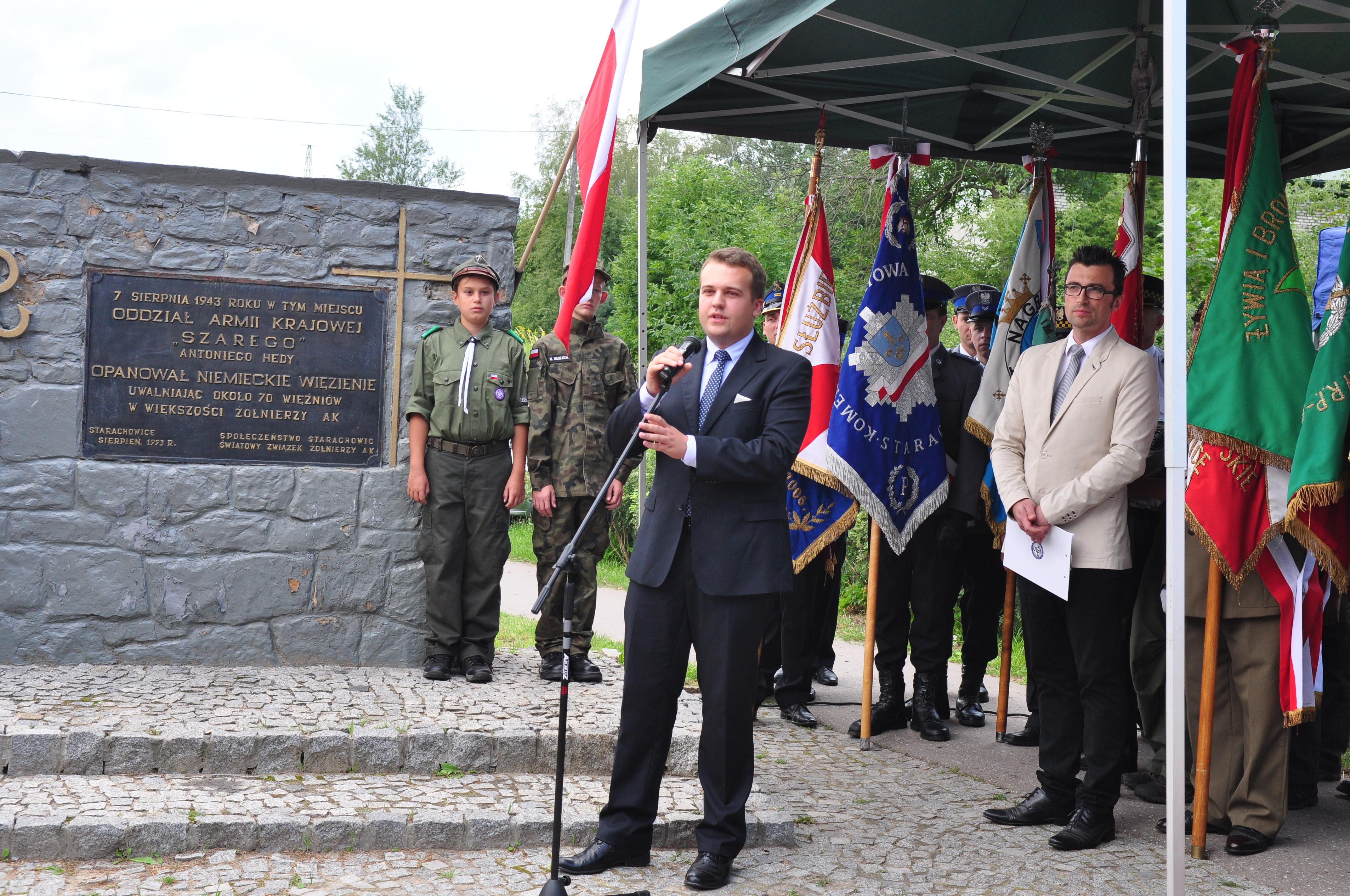 74. rocznica rozbicia niemieckiego aresztu w Starachowicach
