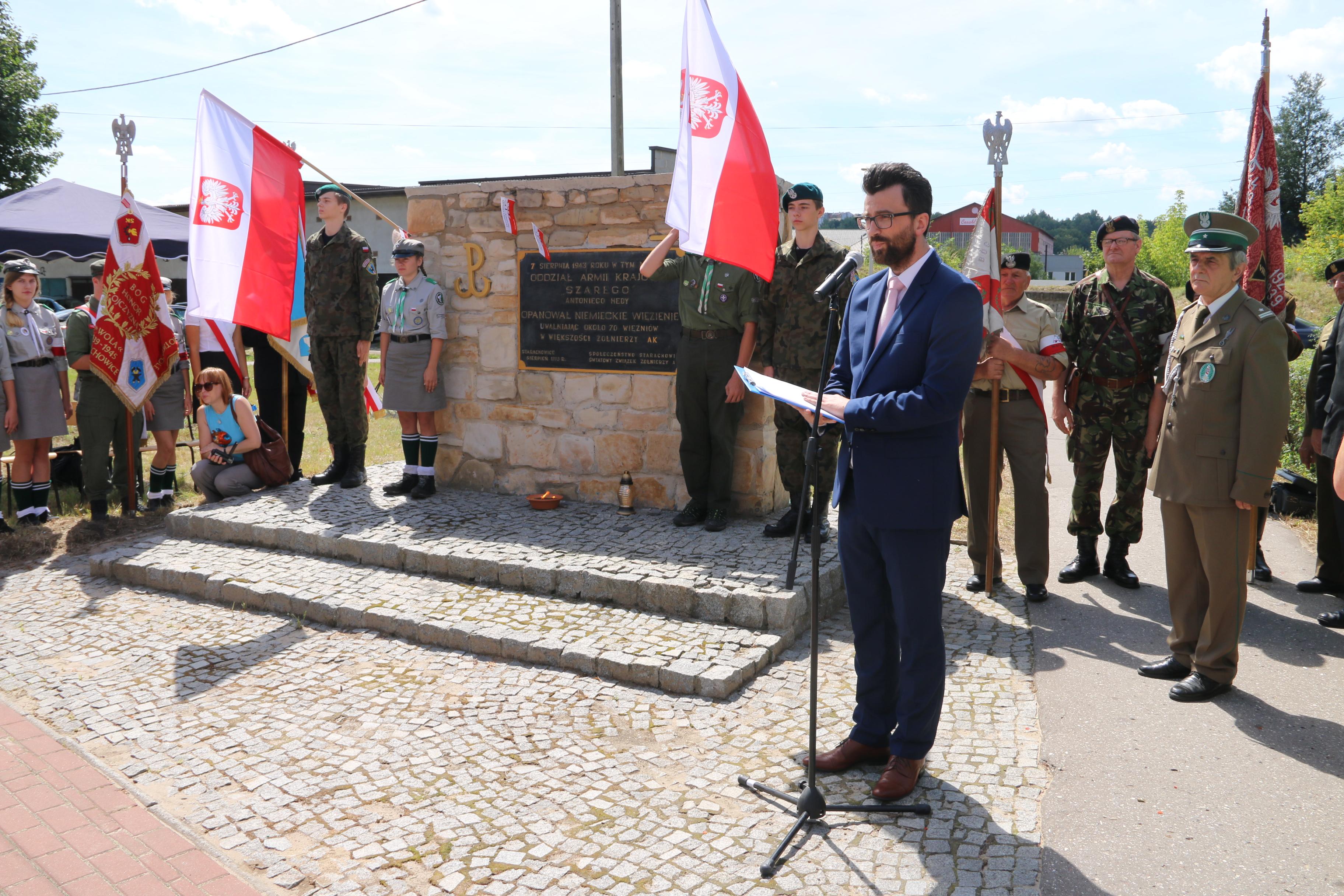 76. rocznica rozbicia niemieckiego aresztu śledczego w Starachowicach