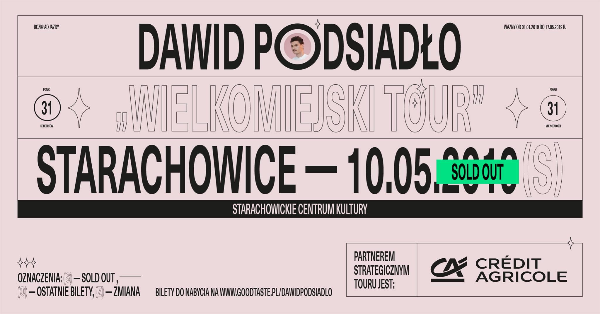 Dawid Podsiadło • Wielkomiejski Tour • Starachowice