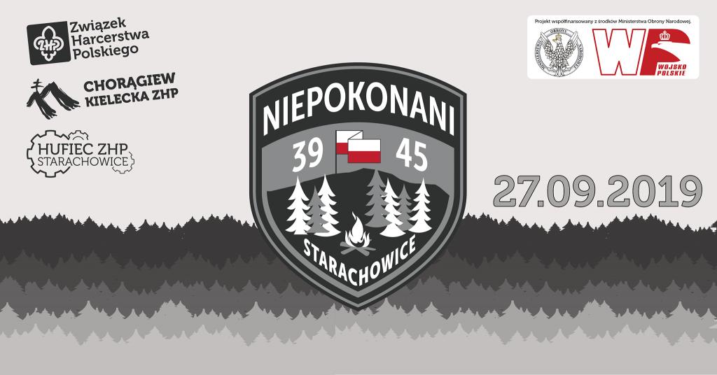 """Gra miejska """"Niepokonani 1939-1945"""" - 27 września 2019 w Starachowicach"""